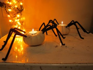 Pumpkin Spider Holder