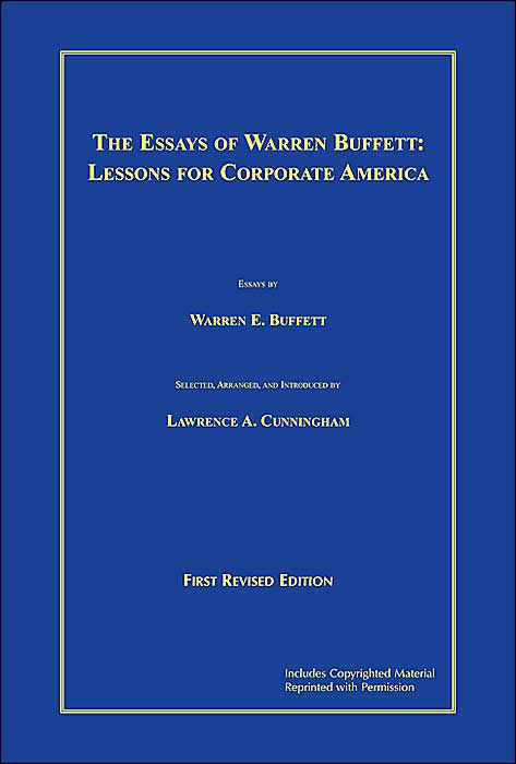 the essays of warren buffett lessons for investors and managers ebook