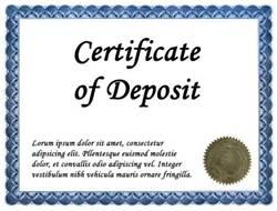 1. Certificate of Deposit