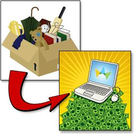 5 Put out your possessions or valuable items for sale or for lease