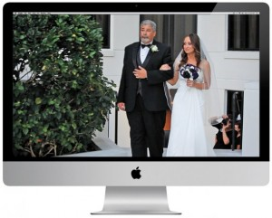 4 Watch your wedding video over a fully loaded snack