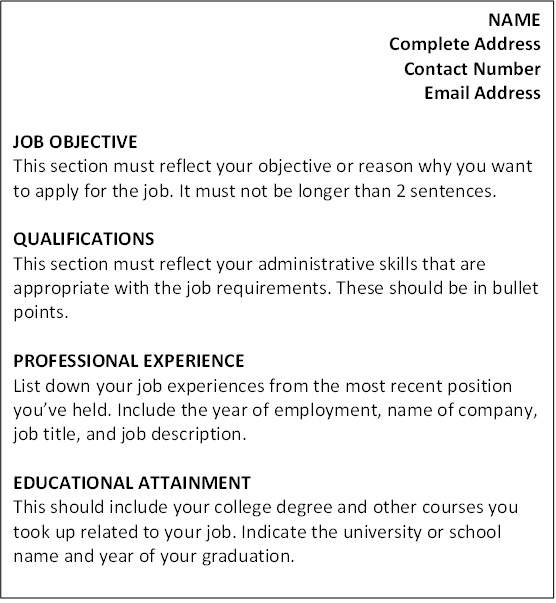 free resume templates - Skills For A Job Resume