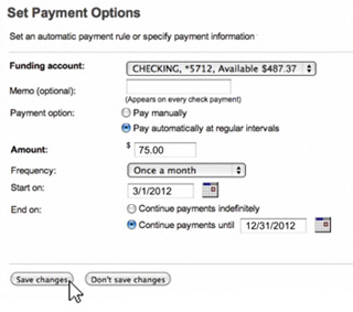 6. Make Automatic Payments